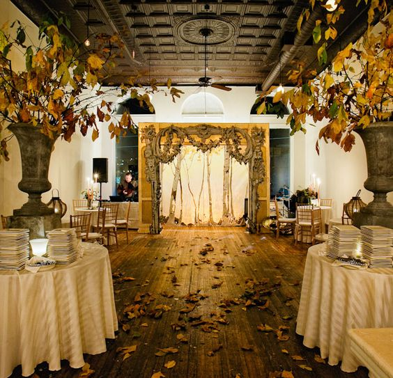 Small Wedding Reception Ideas: Intimate Backyard Harvest Wedding: Alissa + Jeb