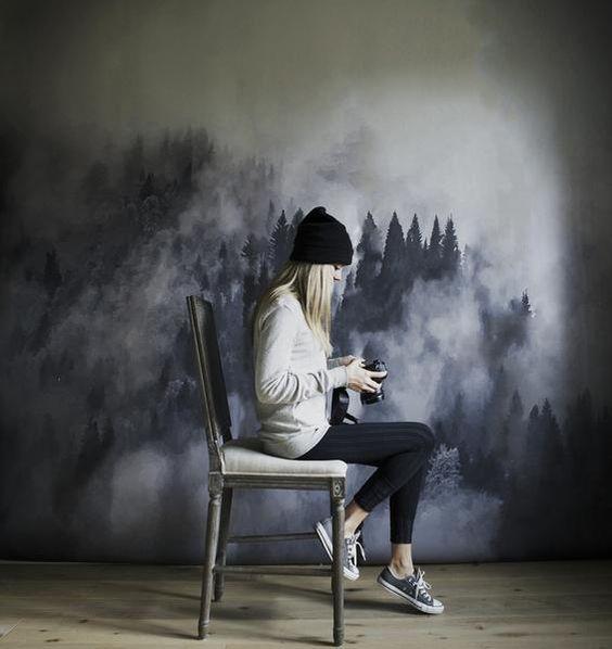 Foggy Hills Wallpaper: Anewall.com
