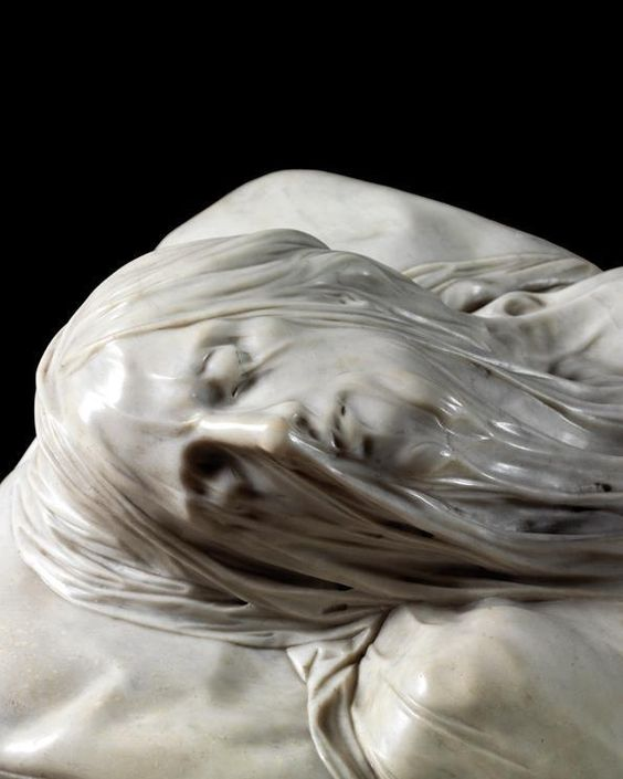 Veiled Christ, marble, Giuseppe Sanmartino 1783 to do a vial, one you can see through, and to carve that vial out of stone is just remarkable.
