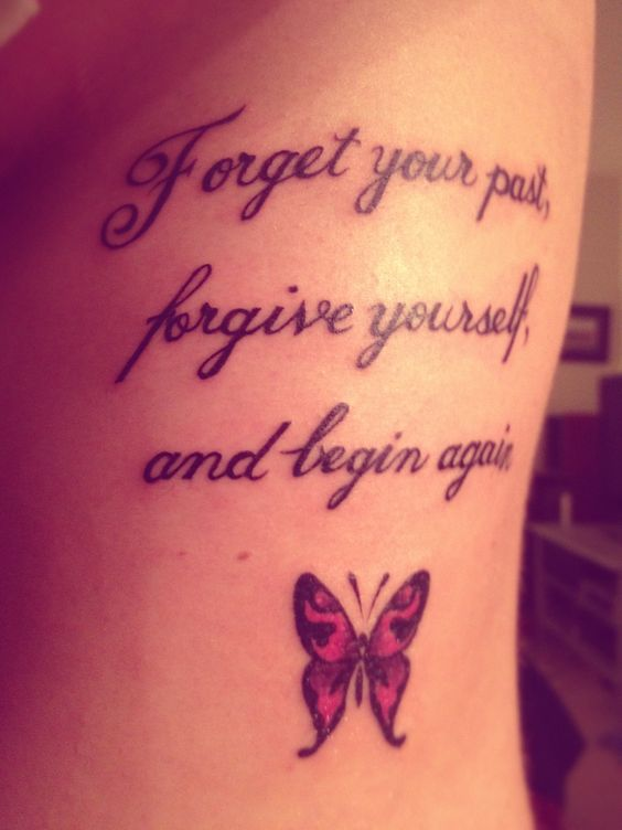 Nice quote tattoo with butterfly! | Tattoos | Pinterest ...