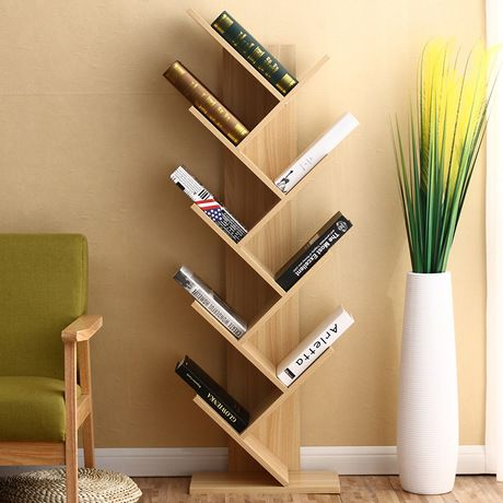 Bookcase Living Room Furniture Home Furniture Tree Shape Bookshelf Multi Size Book Stand Wood In 2020 Minimalist Bookcase Living Room Bookcase Decoration And Furniture