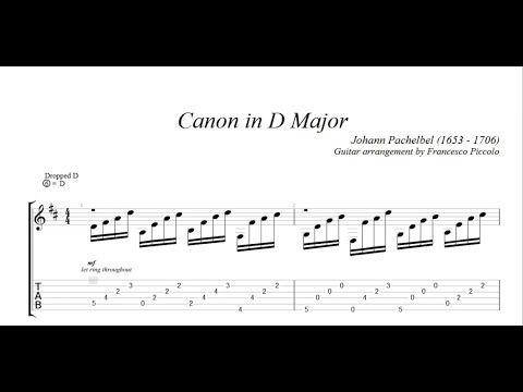 Classical Guitar Johann Pachelbel Canon In D Major Youtube