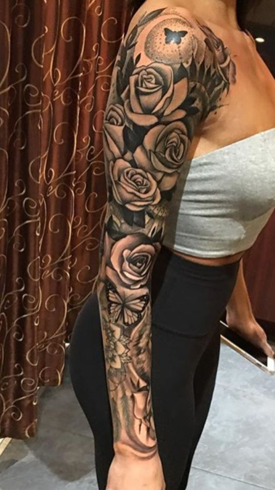 Black And White Flower Tattoo Best 115 Trending Tattoo 2020 Feminine Tattoo Sleeves Sleeve Tattoos For Women Girls With Sleeve Tattoos