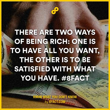 Two ways of being rich