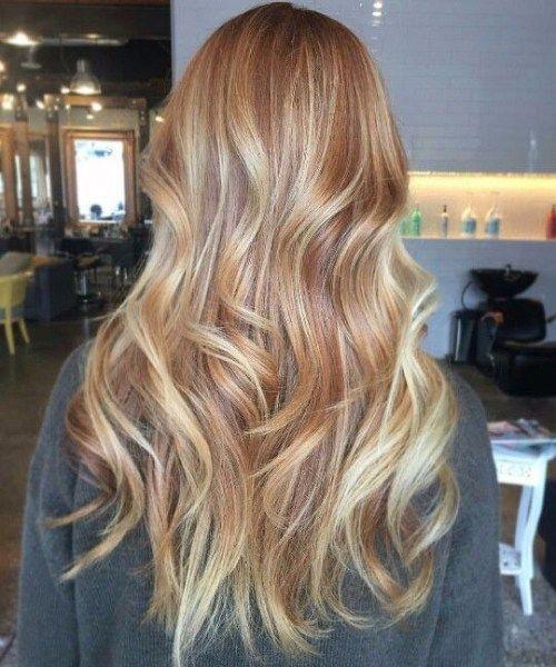 Schattierungen Von Kupfer Balayage Haarfarbe Haircolorbalayage