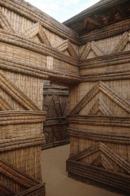 "Walls of a straw castle built  in Diourbel Senegal, ""Castelo de Palha"":"