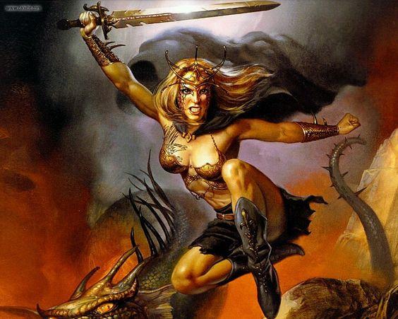 Warrior Queen by Boris Vallejo