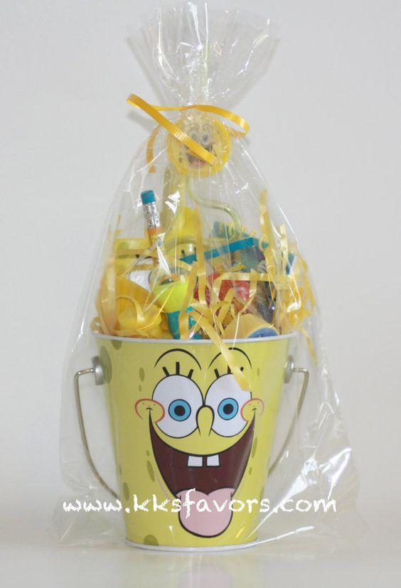 Spongebob Favor Bags by KKsFavors on Etsy, $6.99