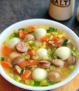 Sup Jagung Sosis Resep Resep Makan Malam Sehat Resep Masakan