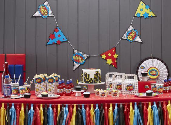 d co anniversaire super h ros super hero party anniversaire super h ros super hero party. Black Bedroom Furniture Sets. Home Design Ideas