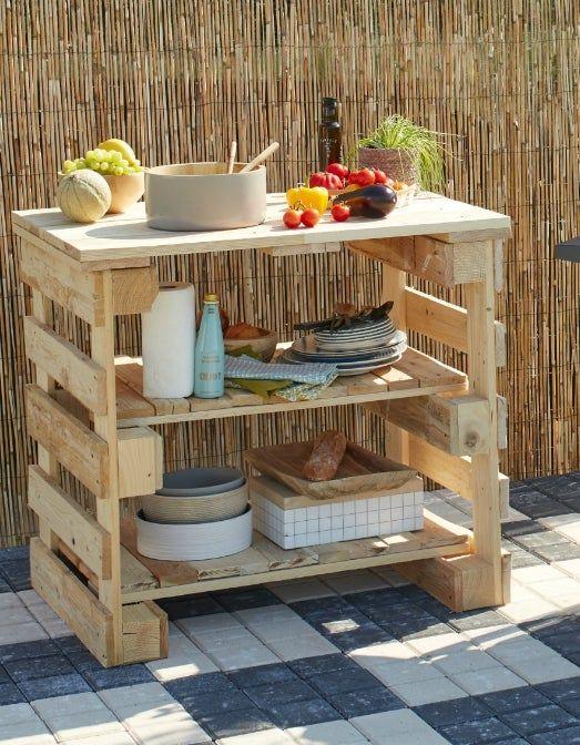palette bois meubles de patio palette