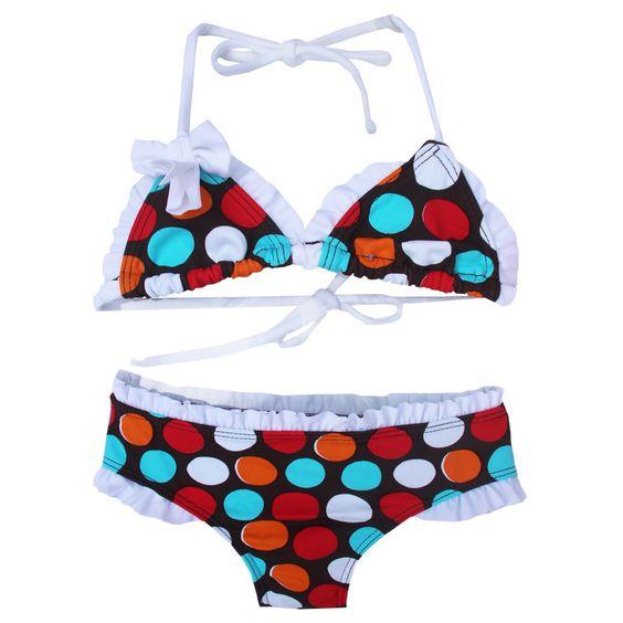 Azul Swimwear Girls' 'Spot On' Triangle Bikini