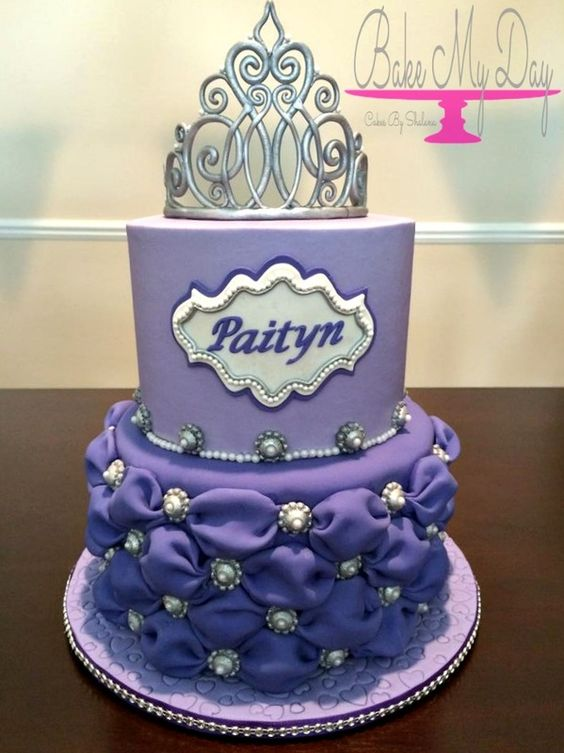 Sofia The First Inspired Princess Birthday Cake With