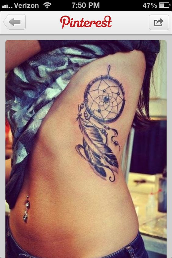 Next tattoo is a dream catcher on my ribs