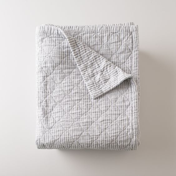 Diamond Ticking Quilt | Blankets + Throws | Bed+Bath #slowdownwithschoolhouse