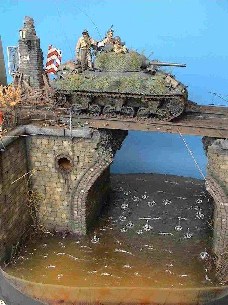 """Die Bruecke"" (The Bridge) By Modeler Gunnar Baeumer 1:35 Scale"