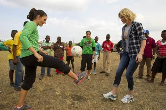 A LIFE WORTH IMITATING  Charlize Theron started CTAOP (Charlize Theron Africa Outreach Project) to prevent African youth from acquiring HIV.