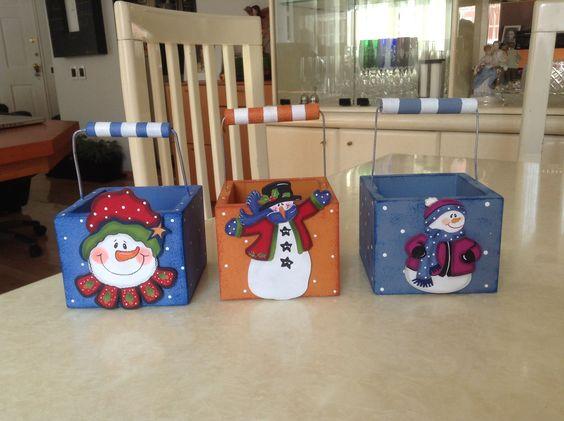 cajas navideñas manualidades cajas navide as para galletas pintura trupan pinterest