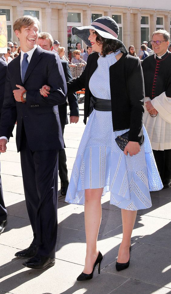 Prince Louis and Princess Alexandra of Luxembourg, on May 06, 2018, attending the traditional procession de clôture de l·Octave in Luxembourg
