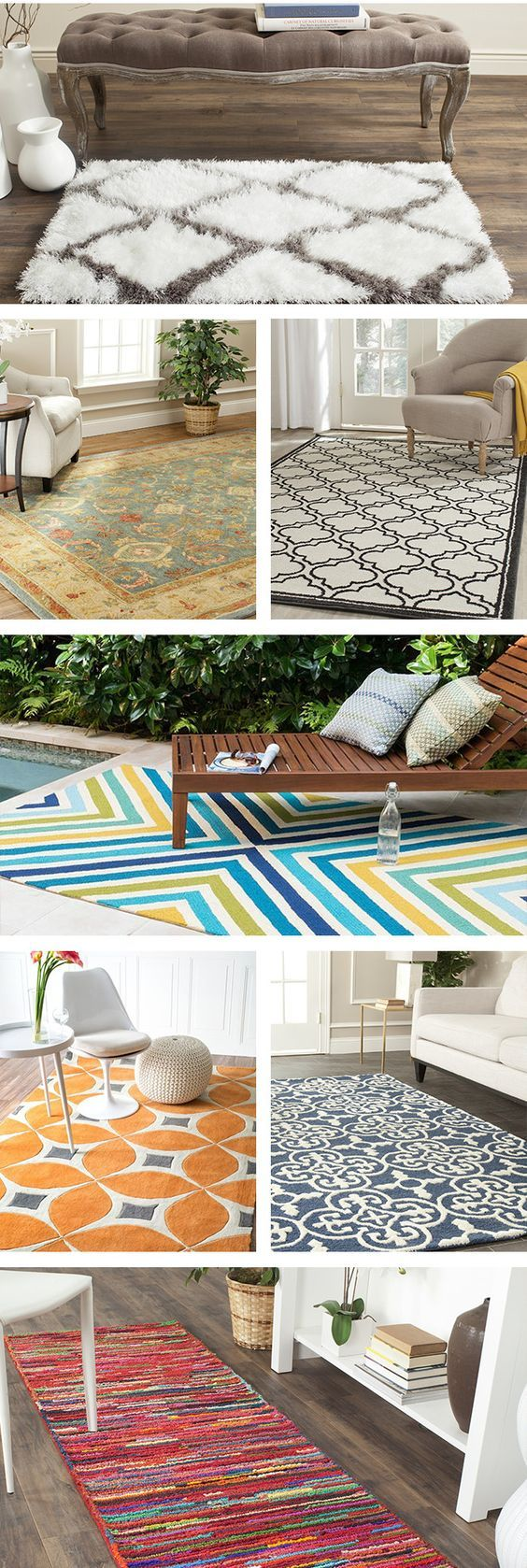 Area rugs, especially those with patterns, help set the tone of a ...