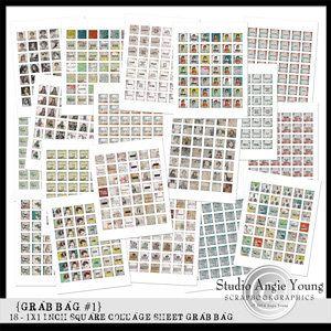 Grab Bag #1 - 18 Collage Sheets