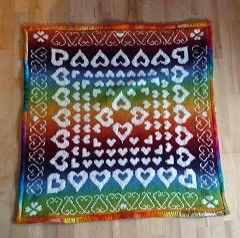Use the beautiful Kauni effektgarn to make a stunning baby blanket- with lots of love!