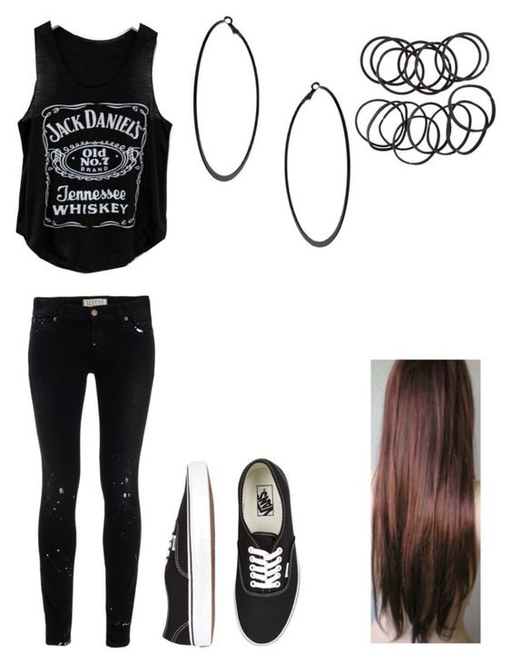"""""""Untitled #51"""" by vickychoute ❤ liked on Polyvore featuring TEXTILE Elizabeth and James, Vans, Topshop and H&M"""