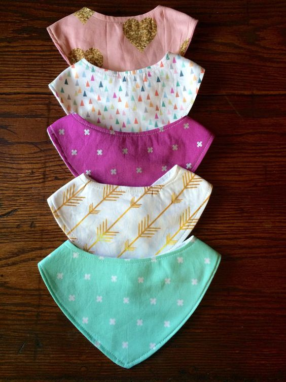 Fan Favorite Bandana Bib Set by JamieVanNuysDesigns on Etsy