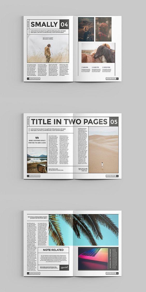 Nomad Magazine Template Magazine Brochure Template Brochuretemplate Brochuredesign In 2020 Magazine Layout Design Magazine Layout Inspiration Book Design Layout