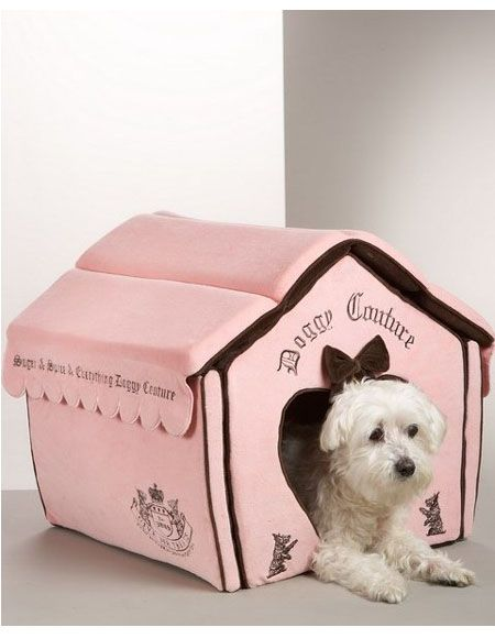 Juicy Couture Dog House Bed