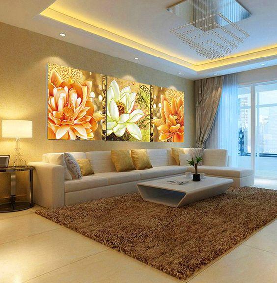 Quadros Para Sala De Tv ~  Pictures para sala impresión de la lona de la de…  Pinteres