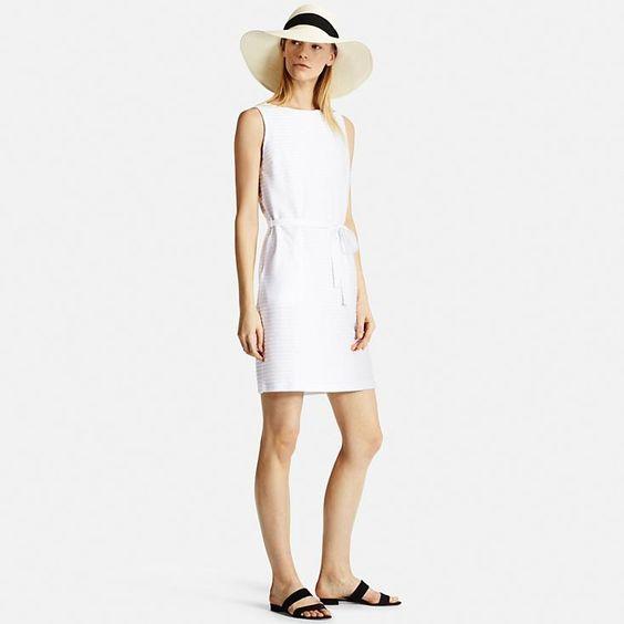 Women&-39-s Jacquard Sleeveless Dress - Uniqlo- Dresses and Women&-39-s