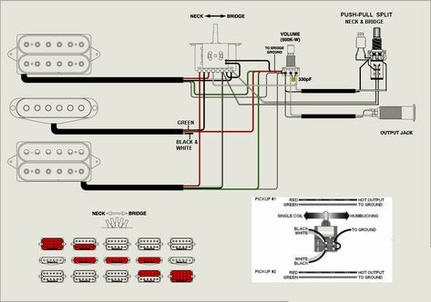 Hsh 1 Volume 2 Push Pull Tone 5 Way At Hsh Pickup Wiring Diagram And Ibanez Guitars Electrical Wiring Diagram Diagram