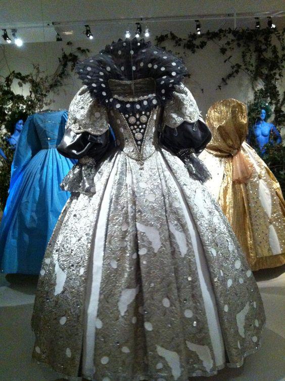 """Peau d'ane (1970) by Jaques Demy - dress """"moon color"""" worn by Catherine Deneuve - exhibition.Cinémathèque Paris"""