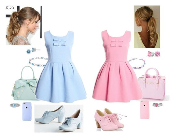 Pastel Twins    #Pastel #Twinning #Sisters #Blue #Pink #Pastels #Bows #Princess #Sweet #Girly #Cute #Pretty #Spring #MyStyle