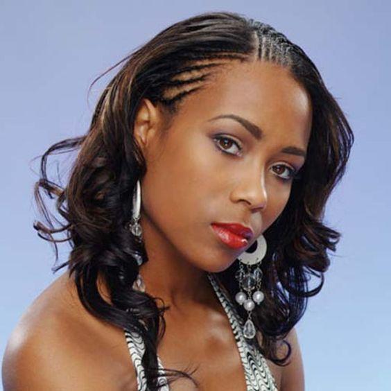 Schwarze Frauen Micro Braids Frisuren  #braids #frauen #frisuren #micro #schwarze #WeaveHairstylesCurly