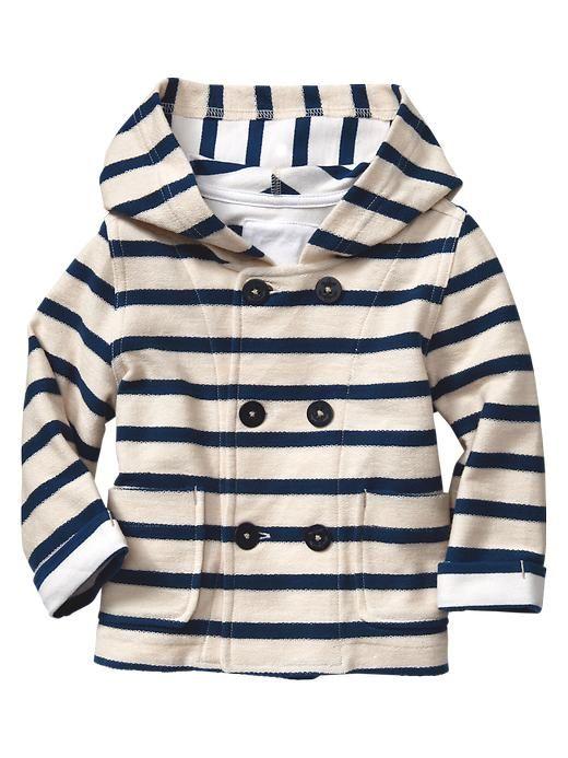 If he's a boy...Gap | Striped hooded coat
