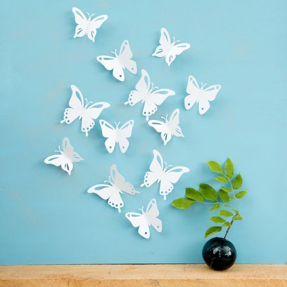 White Butterfly Wall Decor Target : The world s catalog of ideas