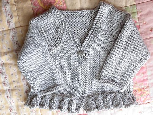 """Frilled Collar /& Edge DK 16/"""" 22/"""" Little Button Up Baby Girl Jacket To Knit"""