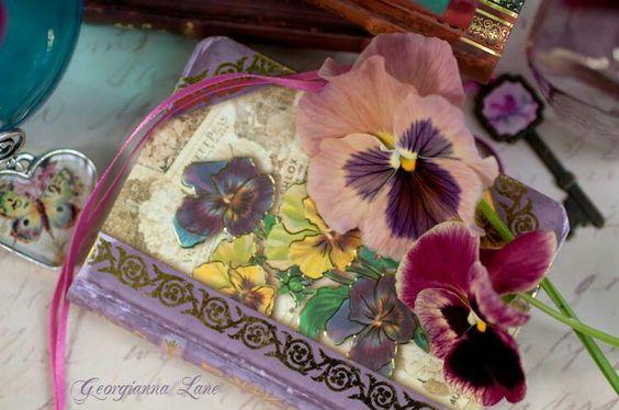 Lovely journal & fliwer bookmark