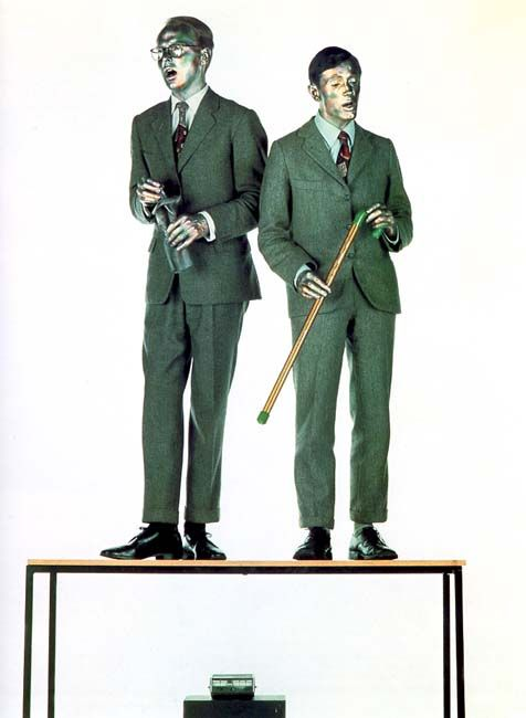 Gilbert & George -  The Singing Sculpture - Anglais performance avec danse, musique et chant 1970
