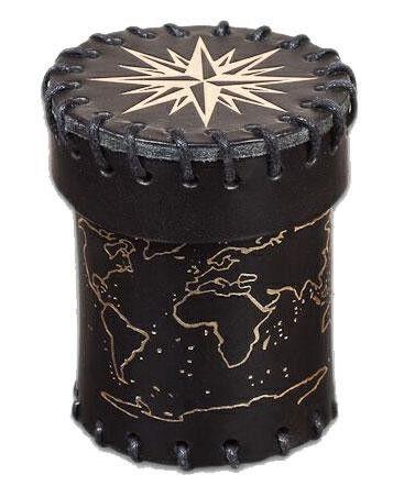 Old Sea Dog Leather Dice Cup (black)
