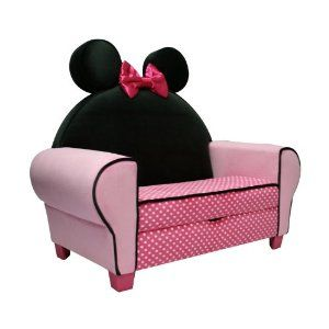 I love little kid furniture, making it Minnie Mouse and storage is a triple bonus!