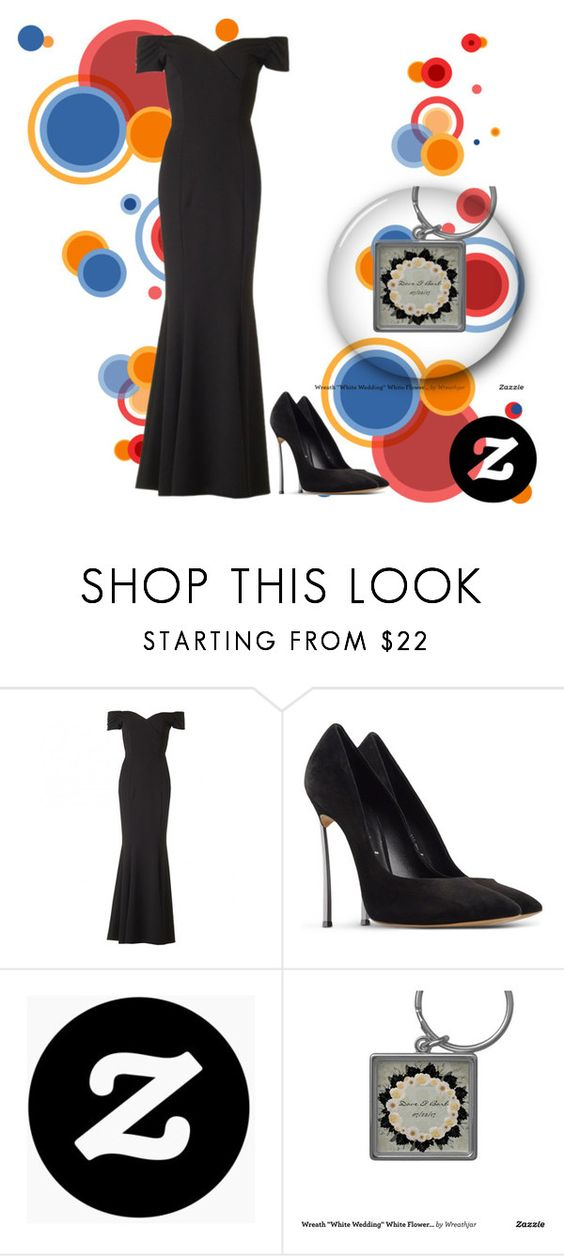 """zazzle #42"" by zancica ❤ liked on Polyvore featuring The Pretty Dress Company and Casadei"