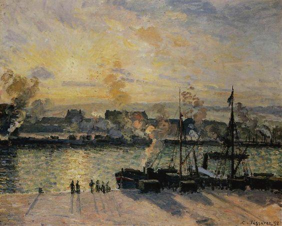 Sunset, the Port of Rouen, 1898.
