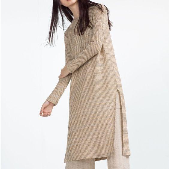Zara Rustic Top with Spli Brand new never worn Zara Tops