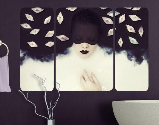 WandBild Kontrast Triptychon II - Kunstdrucke | bilder-welten.net