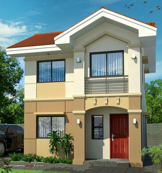 Casita peque a con fachada bonita frontage cottage for Fachadas de casas pequenas