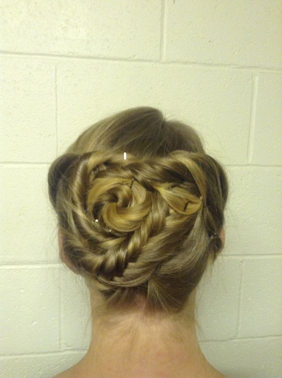 A twisted up-do for the Christmas Ball!