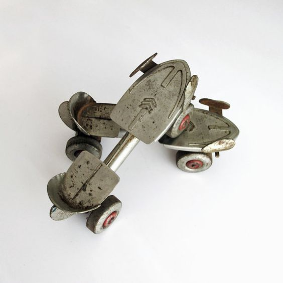 Vintage Flyaway Roller Skates Sears Roebuck by tagandtibby on Etsy, $15.00